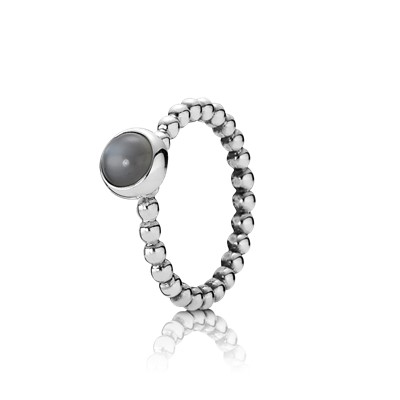 Moonstone Bubble Stacking Ring 190157msg Rings Pandora