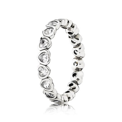 Forever More Stackable Ring Clear CZ CZ Rings