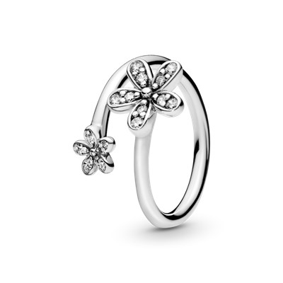 dazzling daisies ring 191038cz rings pandora. Black Bedroom Furniture Sets. Home Design Ideas