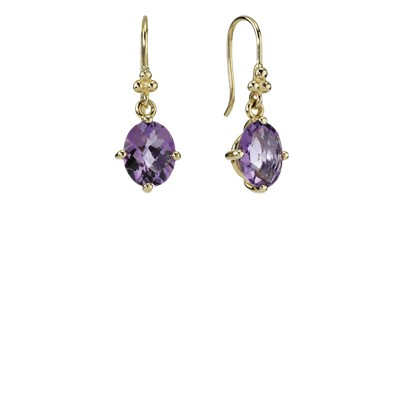 pandora knot earrings earring dangle 14k knot amethyst 250296am 9797