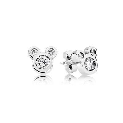 pandora disney earrings disney simplement mickey 290577cz boucles d oreilles 7971